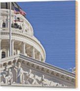 Usa, California, Sacramento, California State Capitol Building Wood Print