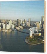 Usa, Florida, Miami, Downtown, Aerial View Wood Print