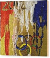 Usa Strives For The Gold Wood Print by Debi Starr