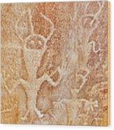 Usa, Utah And Colorado, Dinosaur National Monument, Petroglyphs Wood Print
