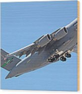 Usaf C-17 Lift Off  Wood Print