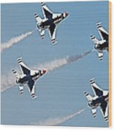 Usaf F-16 Thunderbirds Wood Print