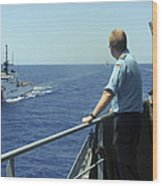 Uscgc Thetis Approaches A German Combat Wood Print