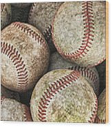 Used Baseballs Wood Print by Wade Aiken