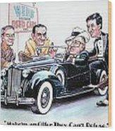 Used Car Salesmen Wood Print