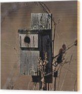 Used House - Free Rent Wood Print