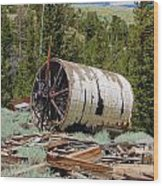 Used To Crush Ore Wood Print by Kirk Williams