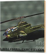 Usmc Ah-1 Cobra Wood Print