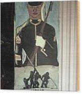 Usmc Mural  Wood Print