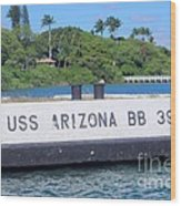 Uss Arizona Bb 39 Marker Wood Print