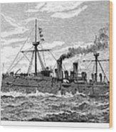 Uss Baltimore, 1890 Wood Print