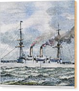 Uss Boston, 1890 Wood Print