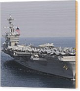 Uss Carl Vinson And Uss Bunker Hill Wood Print