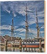 Uss Constitution-boston Wood Print