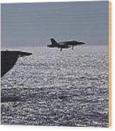 U.s.s. Coral Sea Aircraft Carrier Wood Print