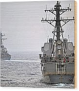 Uss Porter And Uss Nitze Participate Wood Print
