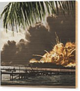 U S S Shaw Pearl Harbor December 7 1941 Wood Print