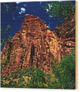 Utah - Zion National Park - Angels Landing Wood Print