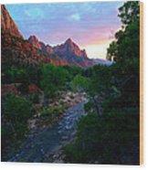 Utah - The Watchman Wood Print