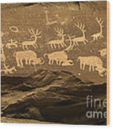 Utah Petroglyphs 1 Wood Print