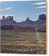 Utah, Usa Highway And Rock Formations Wood Print