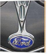V8 Emblem Wood Print
