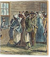 Va: Freedmens Bureau 1866 Wood Print by Granger