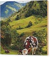 Vaca Wood Print
