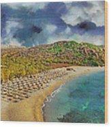Vai Beach II Wood Print