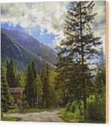 Vail Country Road 1 Wood Print