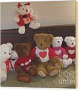 Valentine Bears  Wood Print
