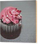 Valentines Cupcake Wood Print