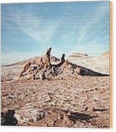 Valle De La Luna - Atacama Desert Northern  Wood Print by Ronald Osborne
