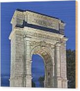 Valley Forge Memorial Arch Wood Print