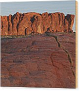 Valley Of Fire Rockscape Wood Print