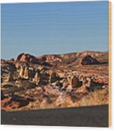 Valley Of Fire Winding Road Wood Print