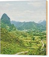 Valley Panorama Wood Print