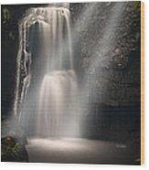 Valley Waterfall Lost Love Wood Print