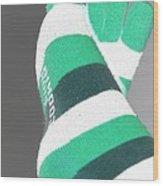 Val's Feet In Negative Wood Print