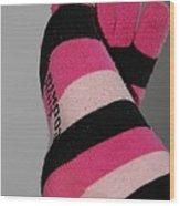 Val's Feet Wood Print