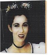 Vampire Bride Wood Print