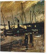 Van Gogh Le Quai Huile Sur Toile 1885  Wood Print