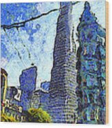 Van Gogh Sips Absinthe And Takes In The Views From North Beach In San Francisco . 7d7431 Wood Print