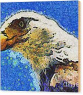 Van Gogh.s American Eagle Under A Starry Night . 40d6715 Wood Print