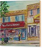 Van Horne Bagel With Yangzte Restaurant Wood Print