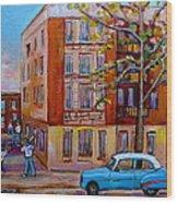 Van Horne Boulevard Montreal Street Scene Wood Print