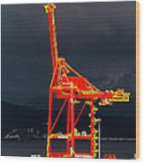 Vancouver, Bc - Harbour Wood Print