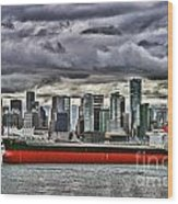 Vancouver Freighter Hdr Wood Print