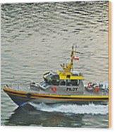 Vancouver Harbour Pilot Wood Print