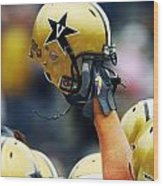 Vanderbilt Commodore Helmet  Wood Print